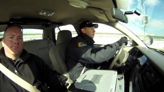 des moines police recruit driving day at ia speedway