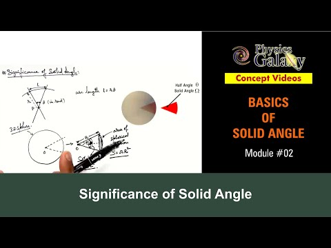 2. Physics   Solid Angle   Significance of Solid Angle   by Ashish Arora