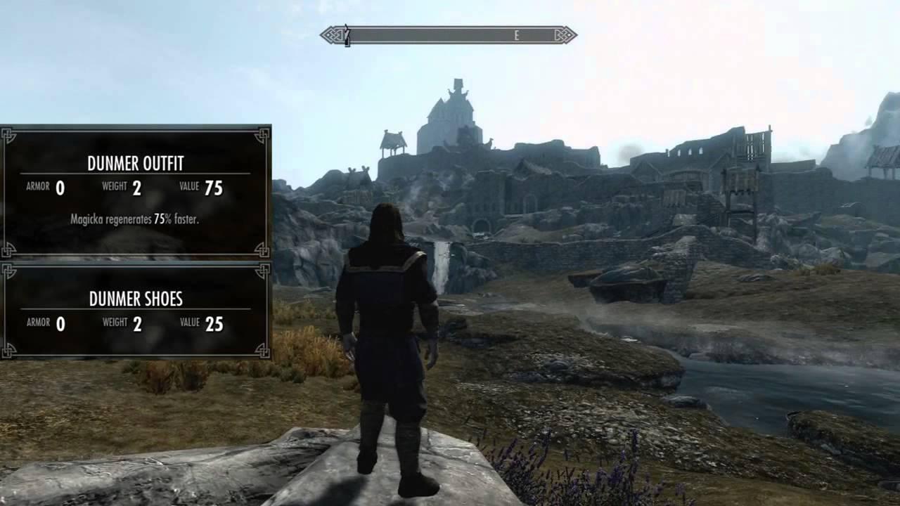 Skyrim Dragonborn All Cloth Armor Male Youtube