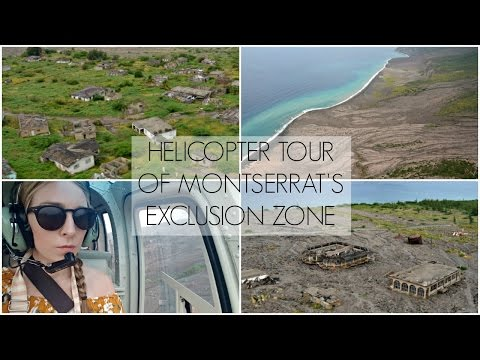Flying Over Plymouth Exclusion Zone | Montserrat Volcano | Lux Life