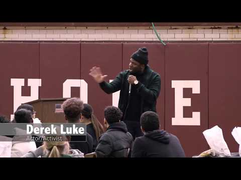 2019 Jersey City: Actor Derek Luke talks High School students ...