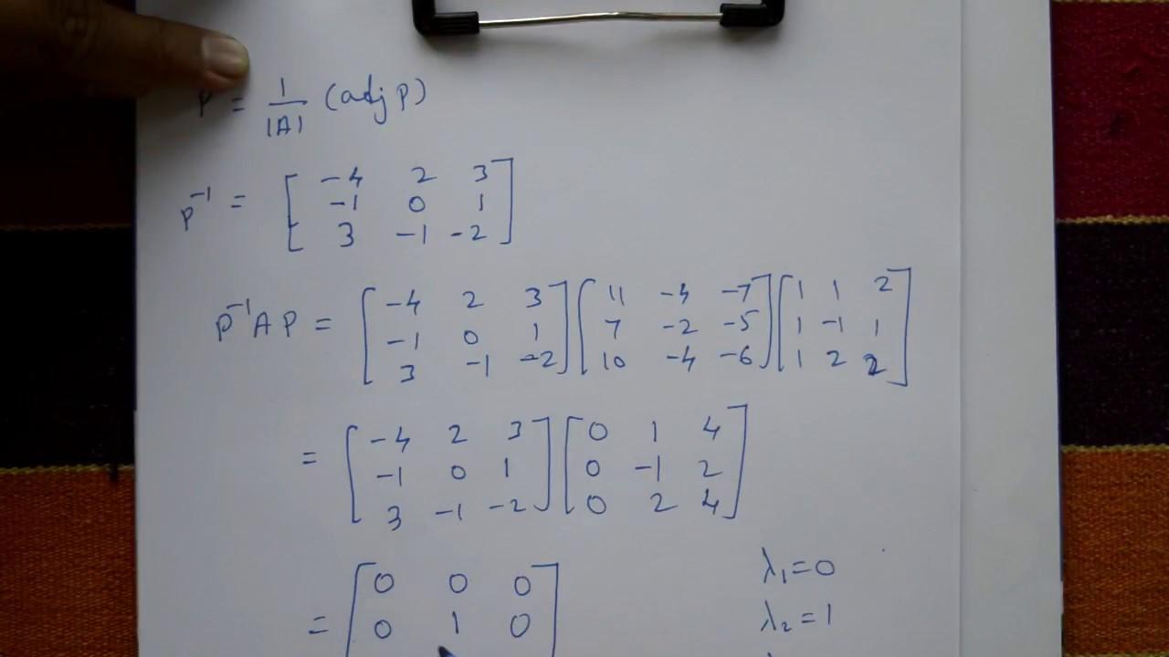 VTU Engineering Maths 1 Reduce into Diagonal Matrix very interesting  question paper example(PART-3)