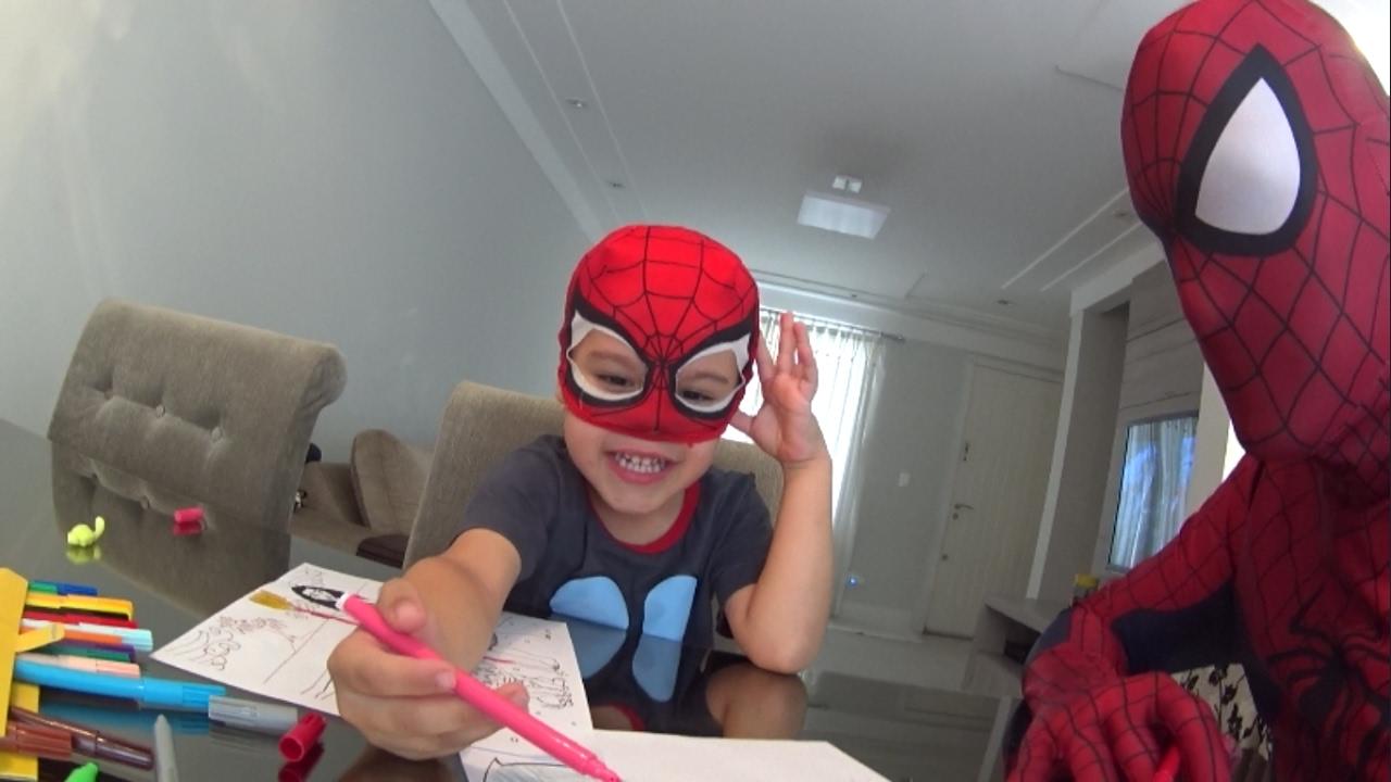 Homem Aranha Colorindo Desenhos Do Filme Moana Spider Man