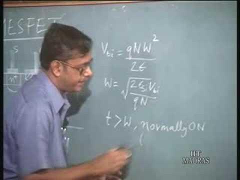 Lecture 37 GaAs MESFET Characteristics and Equivalent Circui