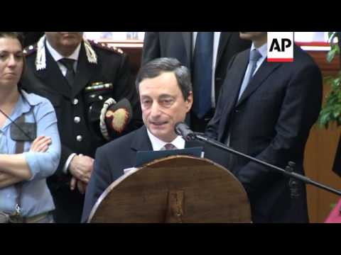 ECB CHIEF DRAGHI COMMENT ON EU ECONOMY DURING ROME LECTURE