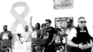 JAY - Z  Attends TRAYVONE MARTIN PEACE WALK and gives powerful speech