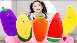 수박 바나나 당근 신기한 야채필통 안에 무엇이 들어있을까요?!야채필통 그리기 놀이Pretend Play with Vegetable Toys-마슈토이 Mashu ToysReview