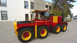 Fully functional miniature Big Roy by Combot Tractor Works