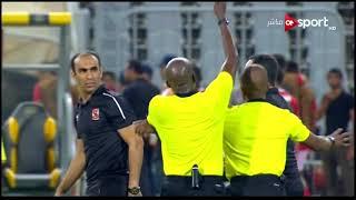 لحظة طرد عمرو محب مترجم الأهلي في مباراة الفريق مع كانو سبورت