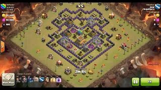 Clash of Clans TH8 vs TH8 Golem, Wizard & Pekka (GoWiPe) Clan War 3 Star Attack