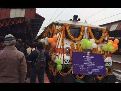Narendra Modi Flags off Mahamana Express in Varanasi