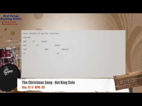 The Christmas Song - Nat King Cole Drums Backing Track with chords and lyrics