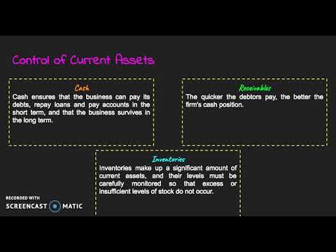 HSC Business Studies Finance: Working Capital (Liquidity) Management