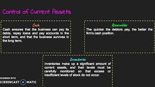 HSC Business Studies Finance: Working Capital (Liquidity) Management
