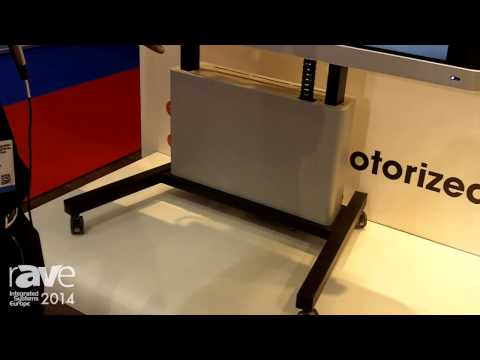 ISE 2014: Vogel's Showcases Motorized Display Trolley Featuring New Cabinet and Cable Management