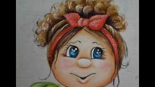 """Como pintar o projeto """"Boneca Cacheada"""" – Pintura em tecido"""