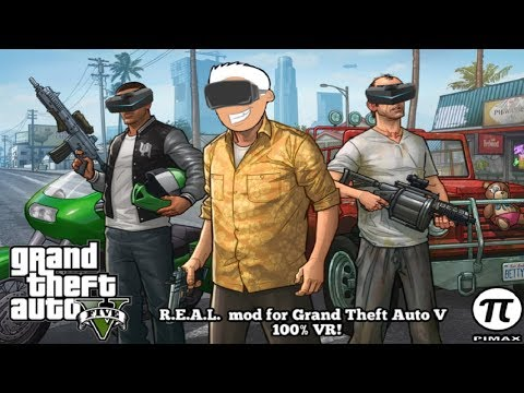 Playing Grand Theft Auto V Using The R.E.A.L. VR Mod At 120Hz In The Pimax 5K+ Is Amazing!