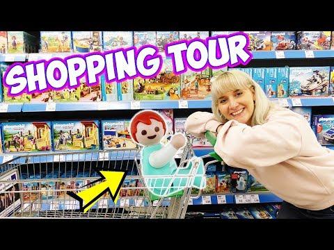 EINKAUFEN MIT EMMA VOGEL & NINA IM SUPERMARKT | Playmobil Real Life Vlog - Kinderfilm Familie Vogel