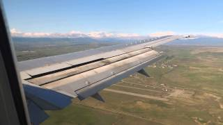 Windy landing in Tbilisi