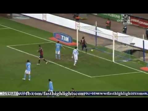 Napoli 6 - 1 Genoa. Calcio, Serie A. Goles Uruguayos: Dos De Cavani Y Uno De Gargano. 21/12/2011