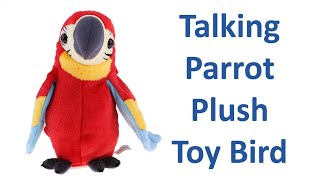 Talking Parrot Plush Toy Bird Preschool Kids Baby Toys