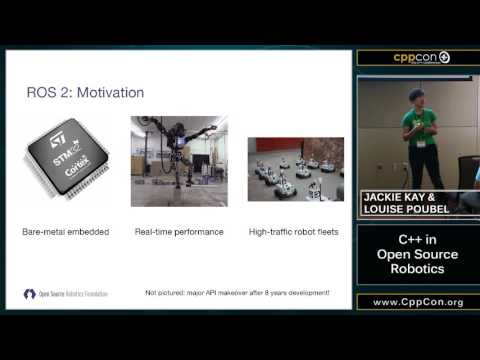 "CppCon 2015: Jackie Kay & Louise Poubel ""C++ in Open Source Robotics"""