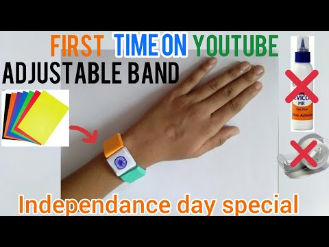 independence-day-band-|-origami-band-|-craft-without-glue-|-independence-day-special-craft-|navaneet
