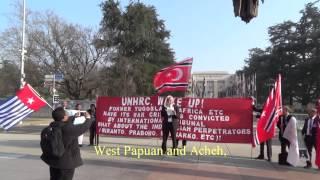 ACHEH, WEST PAPUAN, SOUTH MOLUCCAS Demo Before The UN Building, Geneva, Switzerland 14 March 2014