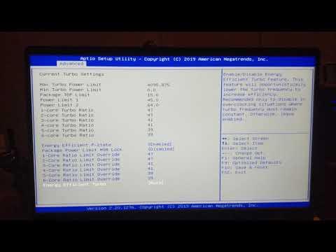 A Quick Look At Hidden BIOS Settings In The MSI Prestige 15 A10SC