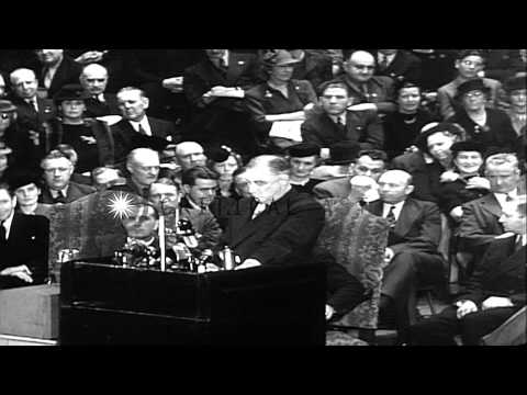 President Franklin Delano Roosevelt addresses the 1936 Democratic National Conven...HD Stock Footage