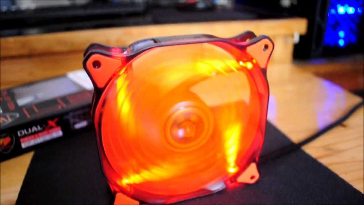 Cougar Dual X 120mm Red LED Case fan Unboxing & Overview ...