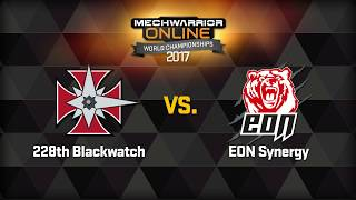 MechWarrior Online World Championships Round 1 Game 1
