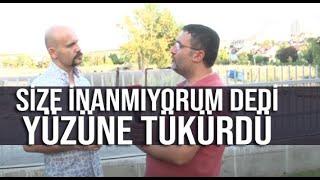 Beyaz TV muhabiri Levent Kelleci, Atalay Demirci'nin yüzüne tükürdü