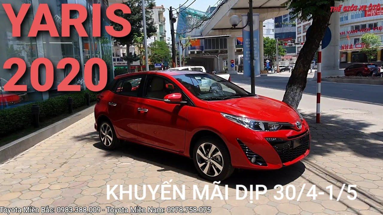 Chi tiết TOYOTA YARIS 2020 màu đỏ và trắng – Kèm giá xe, giá lăn bánh & khuyến mãi mua xe.