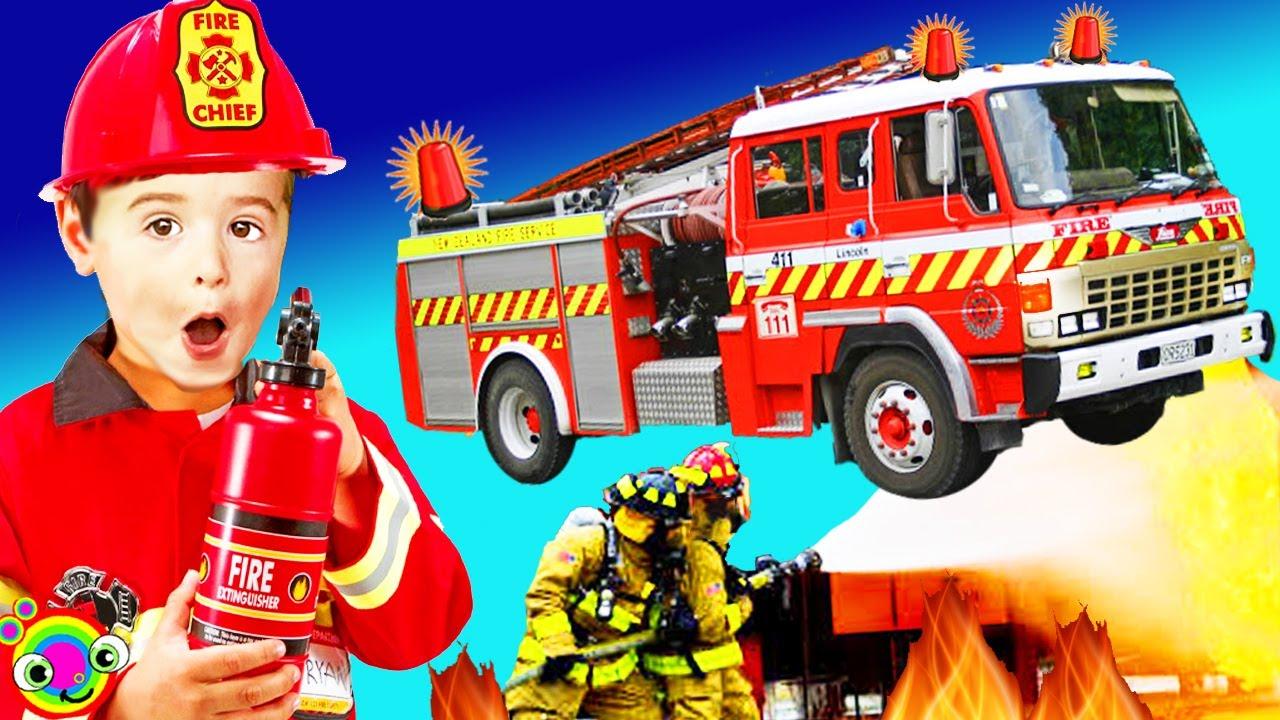 Fire Trucks for Kids | BLiPPi Kid Explores Fire Trucks | min min playtime