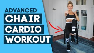 HIIT Workout / Chair Cardio Workout - Chair Exercises (Advanced). PLT Active Collaboration!