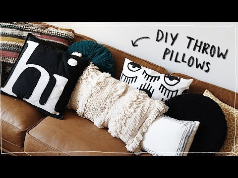 DIY THROW PILLOWS!!! (No Sew) - Super Cute + Aesthetic + Affordable // Lone Fox