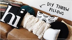 DIY THROW PILLOWS!!! (No Sew) - Super Cute + Aesthetic + Affordable // Lone Fox