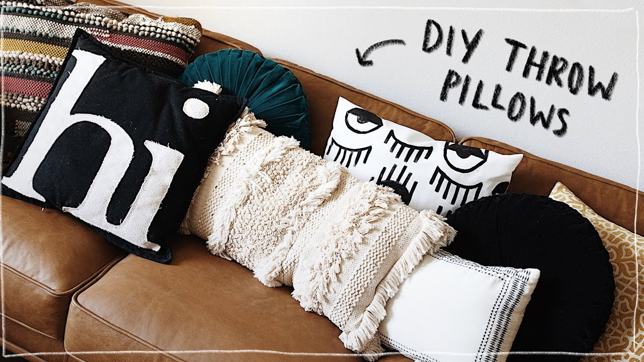 diy throw pillows no sew super cute aesthetic affordable lone fox