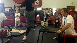 Will Claye weight training session