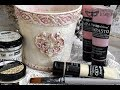 Impasto Pastels Paint Mixedmedia Flower Pot for Christmas