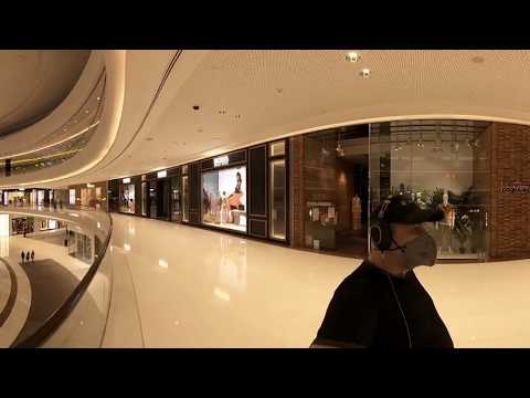 Дубаи360/Путевые Заметки – прогулка 360 по пустому Dubai Mall, часть 2 – динозавр, водопады, каток