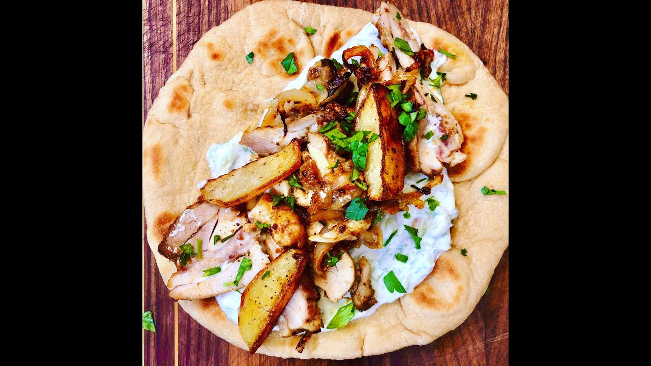 Quarantine Greek Chicken Gyro on Pita | Christine