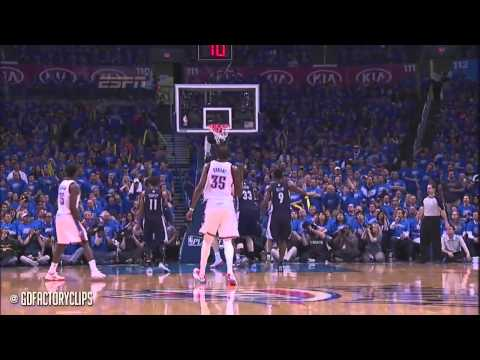 Kevin Durant Full Highlights vs Grizzlies 2014 Playoffs West R1G1 - 33 Pts, 8 Reb