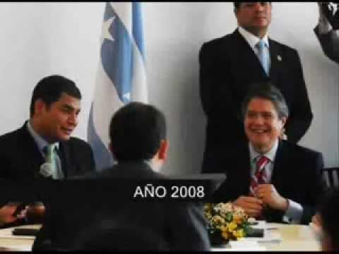 Lo que opinaba Rafael Correa sobre Guillermo Lasso en el 2008 y luego en el 20012