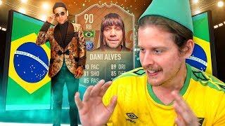 OMG 90 FLASHBACK DANI ALVES SBC! THE BEAST FROM BRAZIL! FIFA 19 ULTIMATE TEAM
