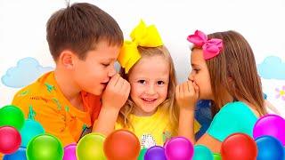Nastya Katya ve Max çocuklar için açık hava oyunları serisi