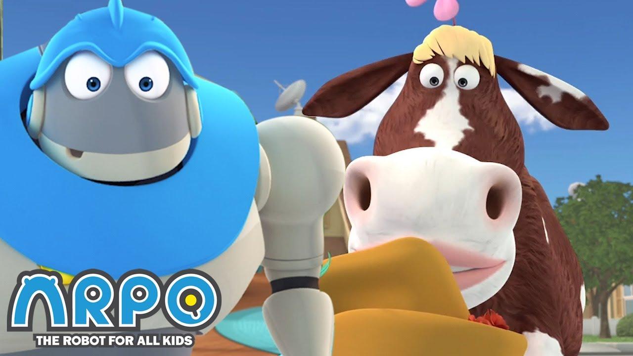 ARPO vs LULU the COW - ARPO the Robot | 에피소드를보고 | Cartoons for Kids | Robot Animation