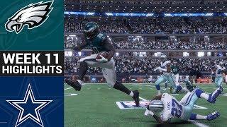 Eagles vs. Cowboys   NFL Week 11 Game Highlights Madden 18