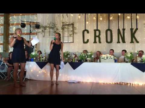 Cronk Wedding Maid Of Honor Speech